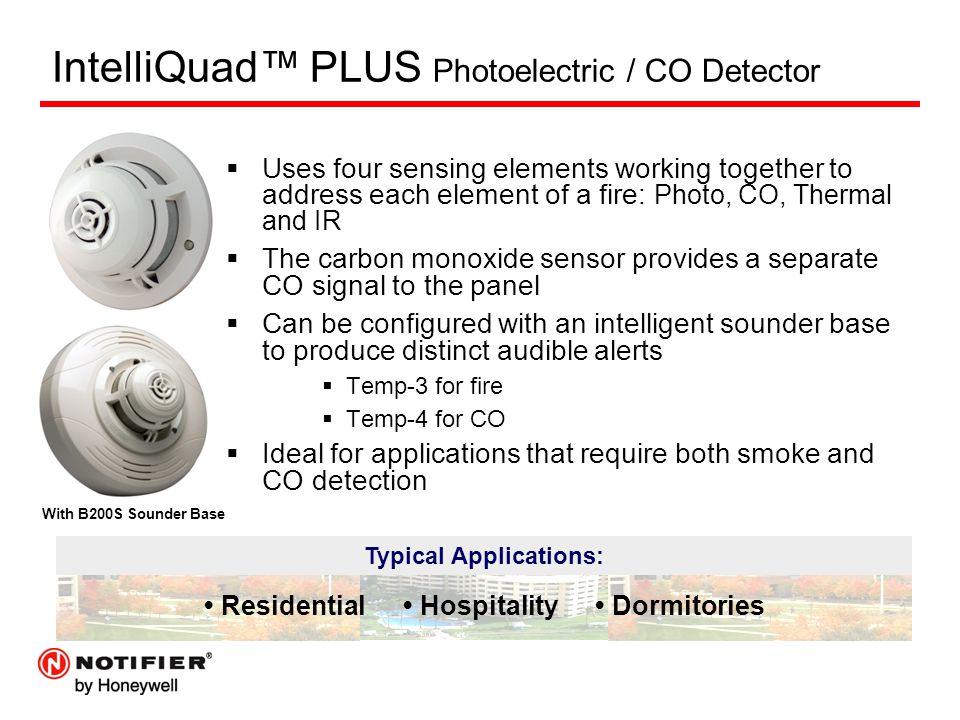 IntelliQuad™ PLUS Photoelectric / CO Detector