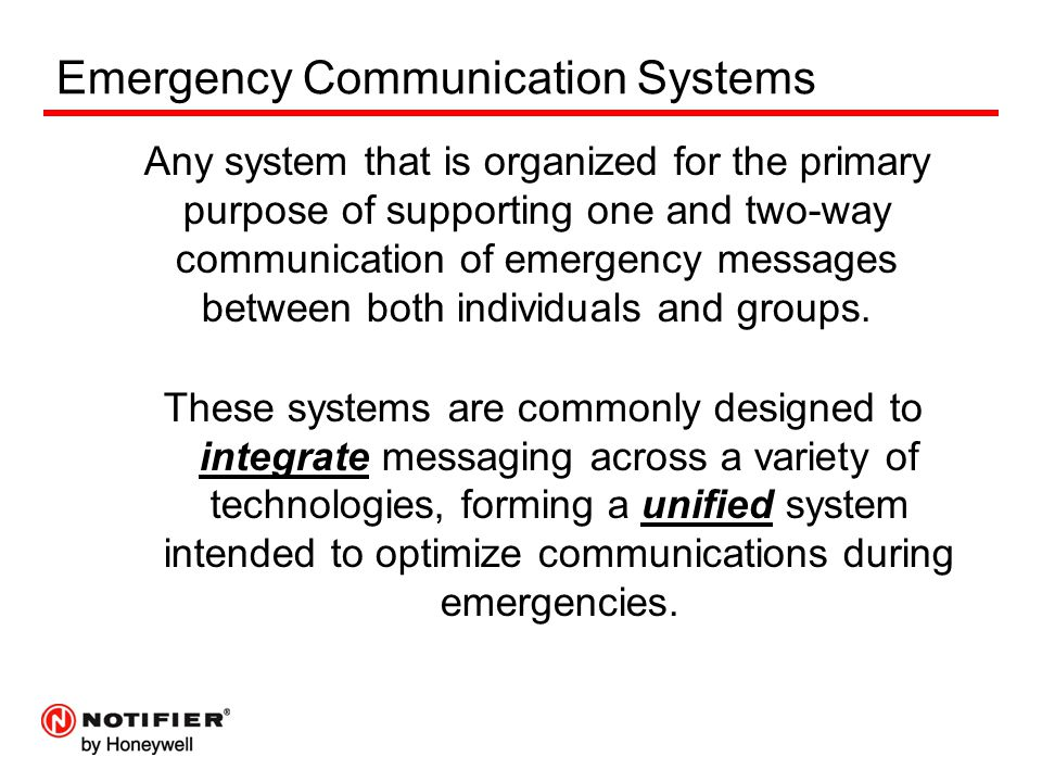 Emergency Communication Systems