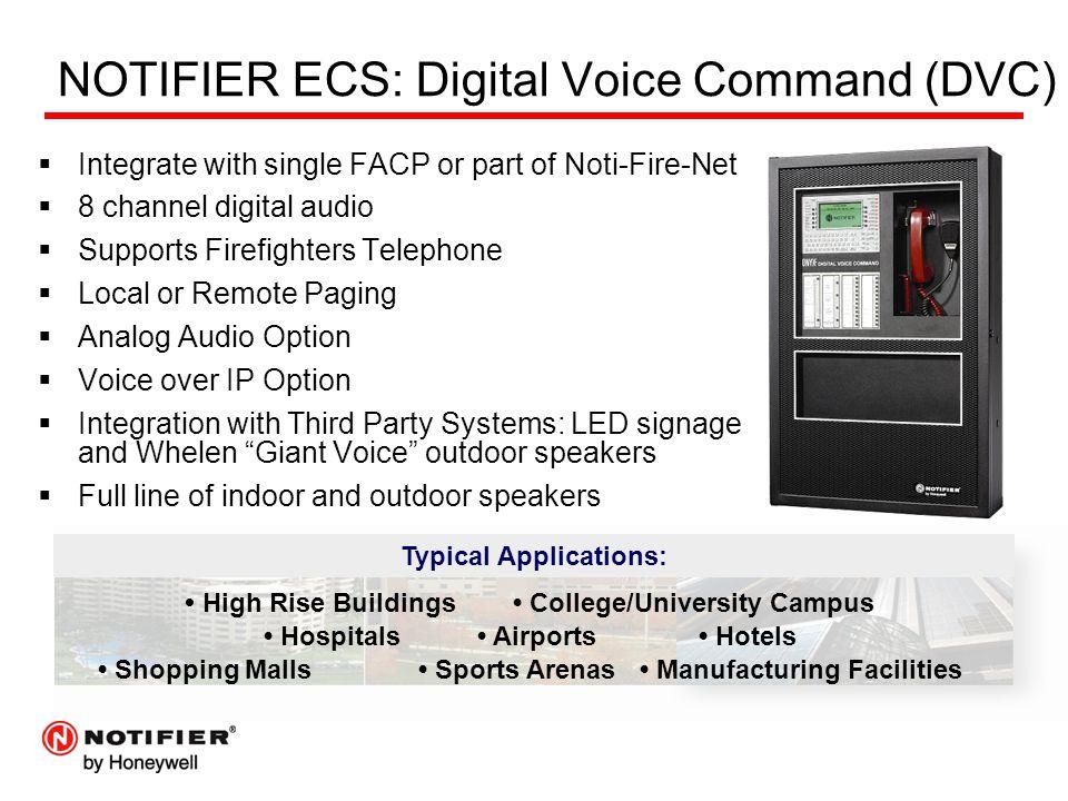 NOTIFIER ECS: Digital Voice Command (DVC)