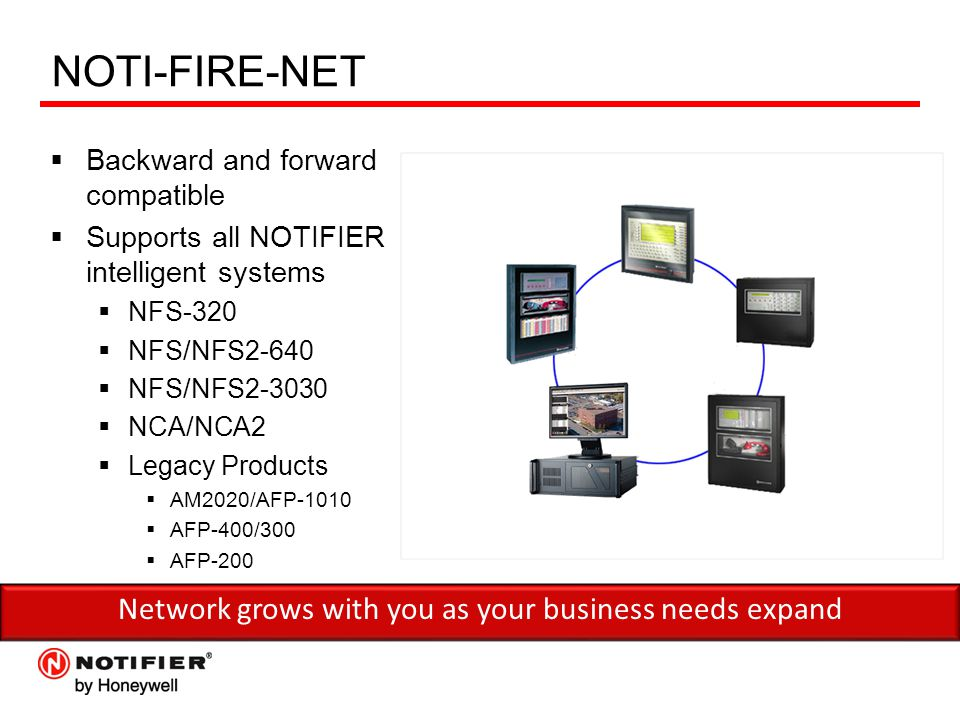 Network+grows+with+you+as+your+business+needs+expand notifier� fire alarm & emergency communication ppt download notifier nfs2-3030 wiring diagram at virtualis.co