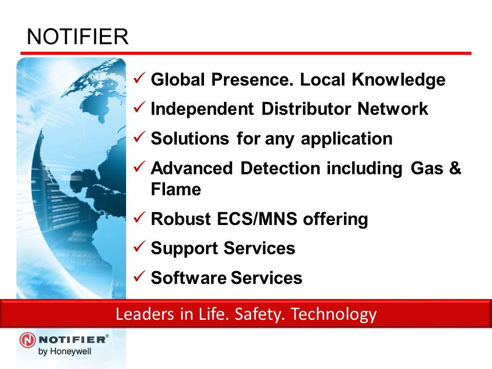 Leaders in Life. Safety. Technology