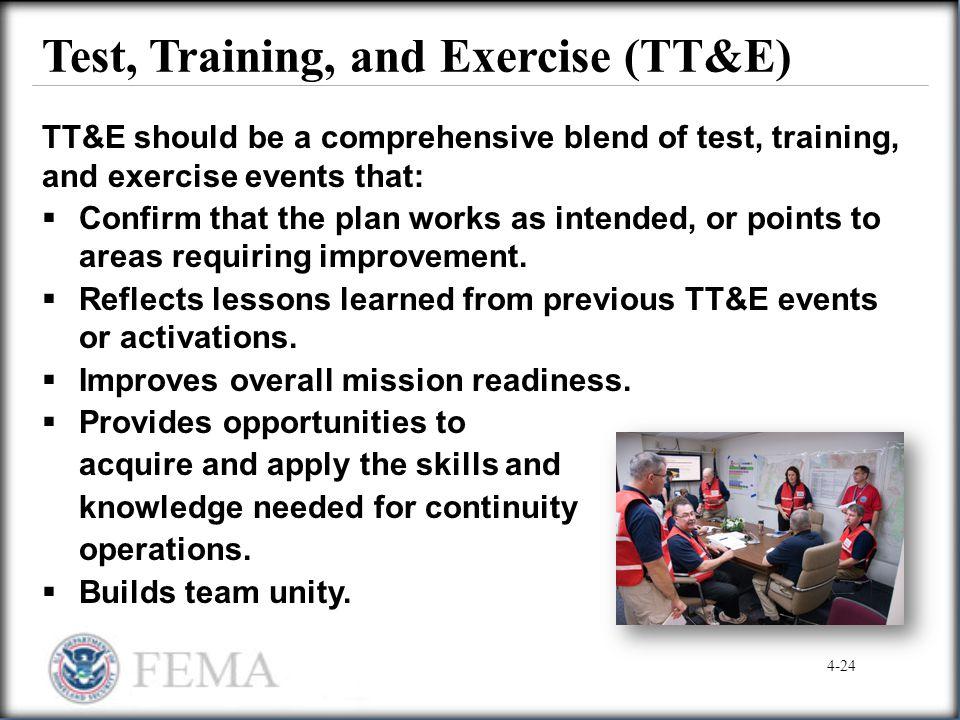 Test, Training, and Exercise (TT&E)