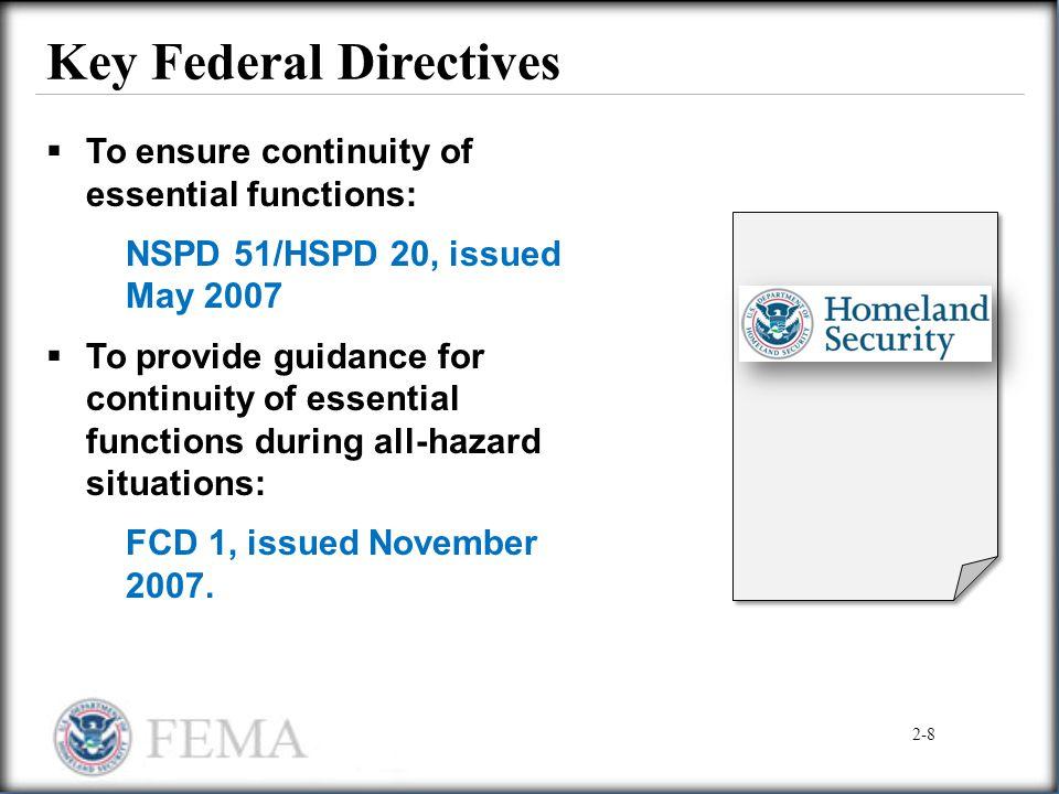 Key Federal Directives