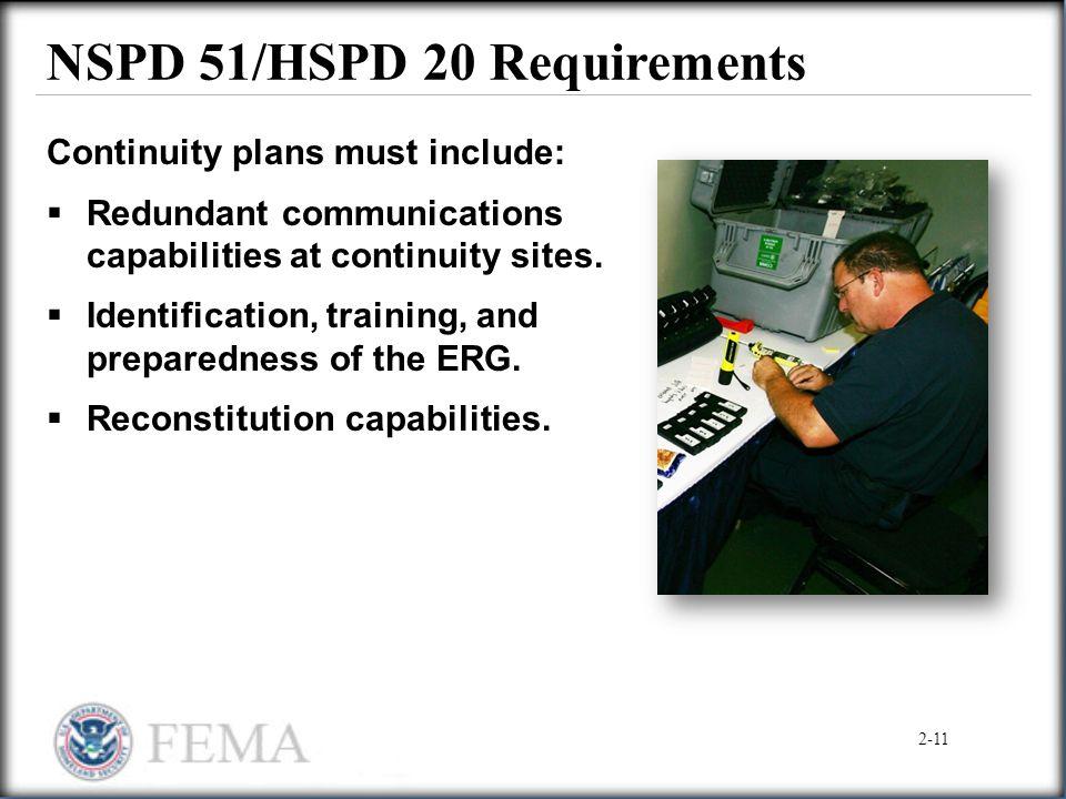 NSPD 51/HSPD 20 Requirements
