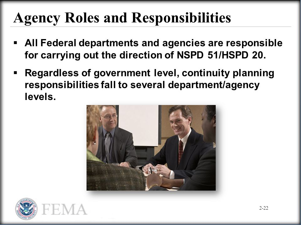 Agency Roles and Responsibilities