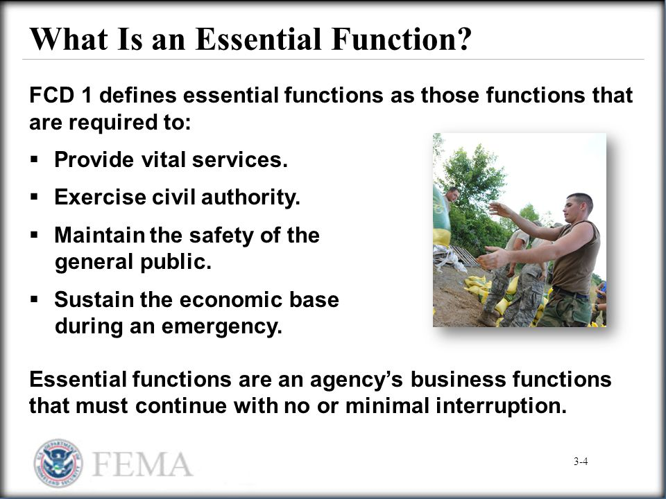 What Is an Essential Function