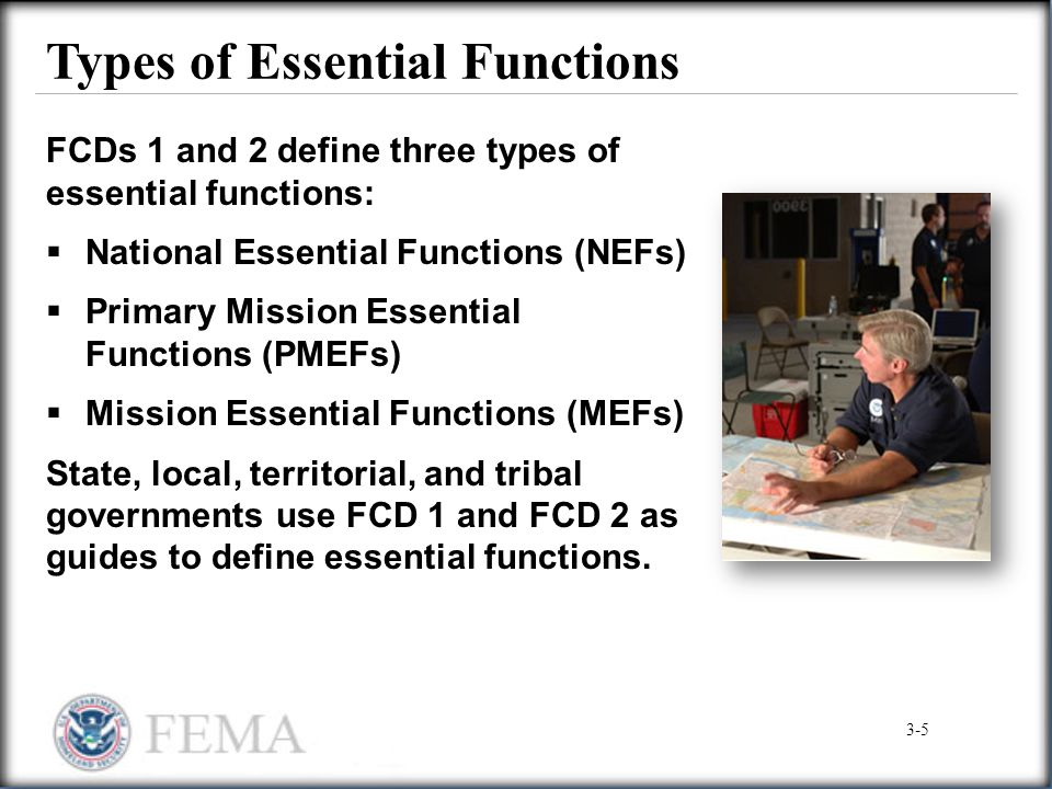 Types of Essential Functions