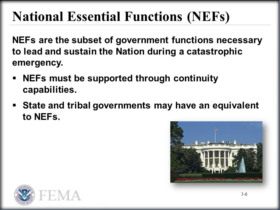National Essential Functions (NEFs)