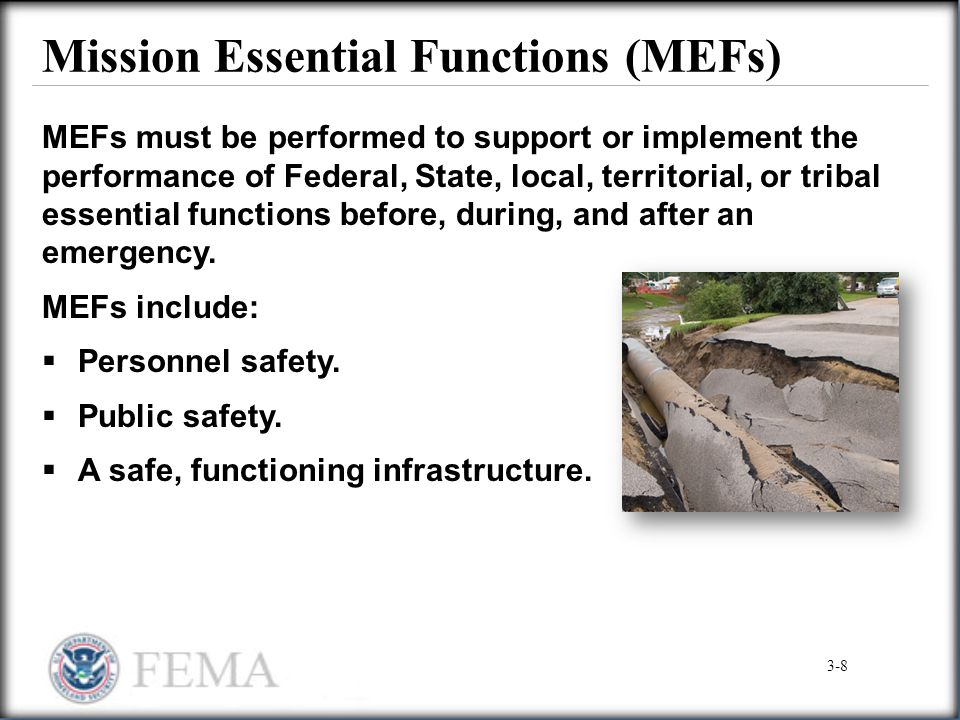 Mission Essential Functions (MEFs)