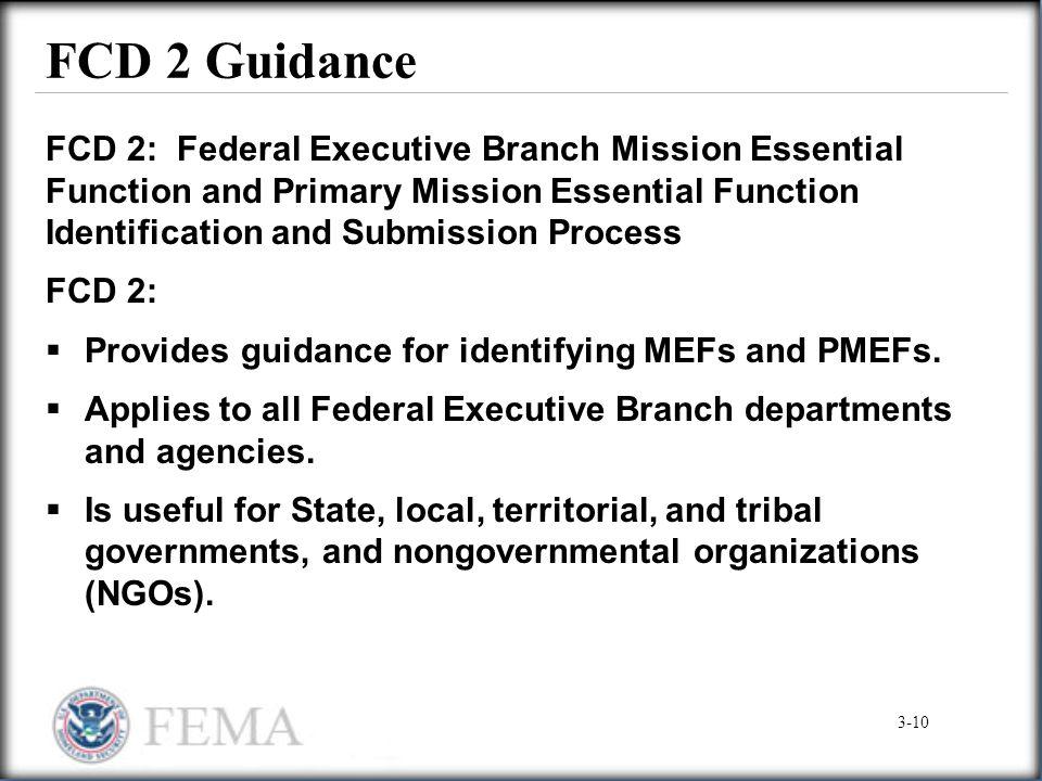 FCD 2 Guidance