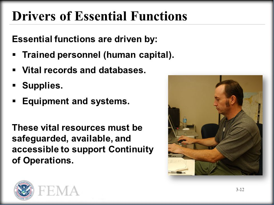 Drivers of Essential Functions