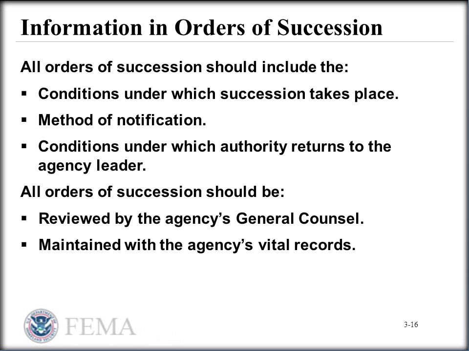 Information in Orders of Succession