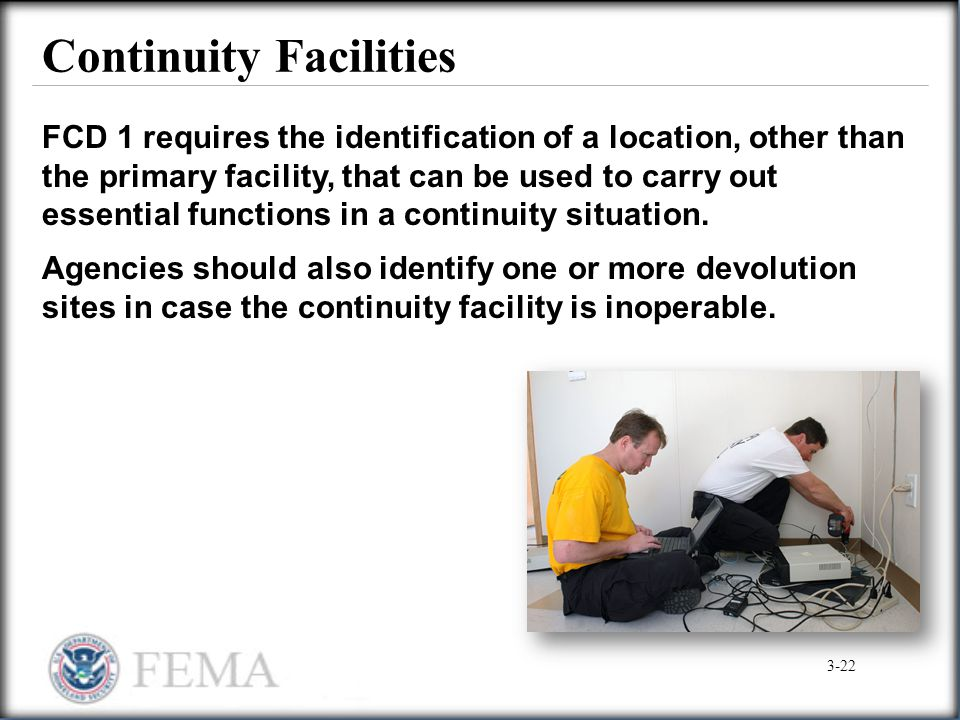 Continuity Facilities