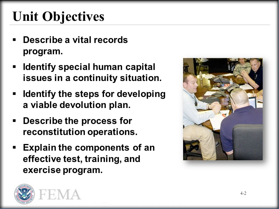 Unit Objectives Describe a vital records program.