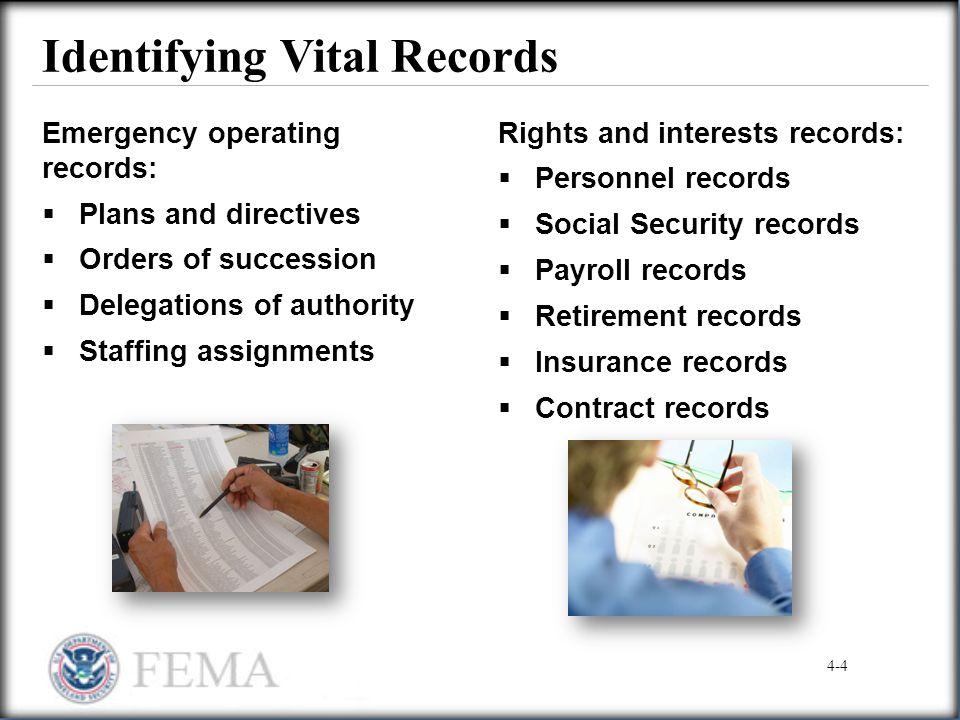 Identifying Vital Records