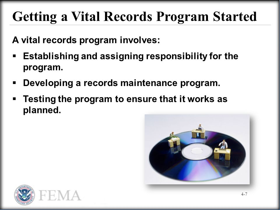 Getting a Vital Records Program Started