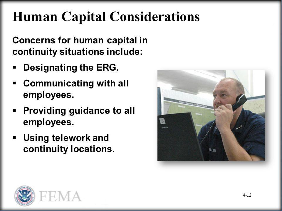 Human Capital Considerations