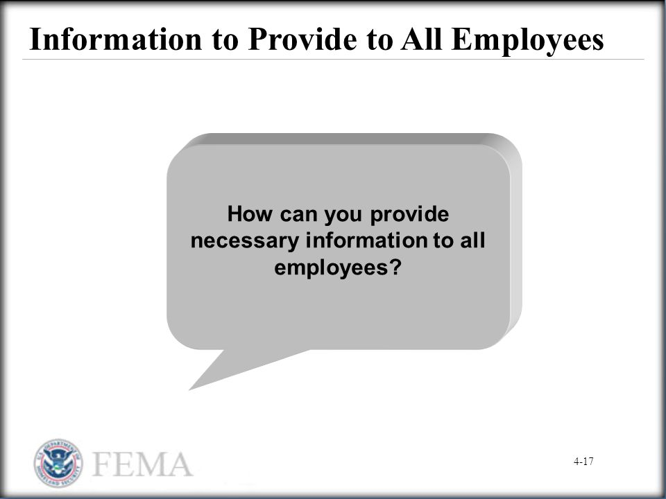 Information to Provide to All Employees