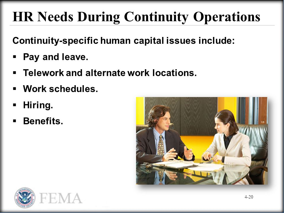 HR Needs During Continuity Operations