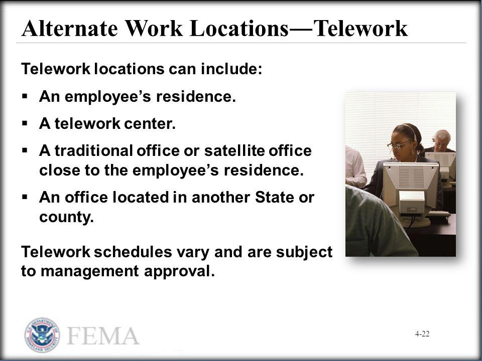Alternate Work Locations―Telework