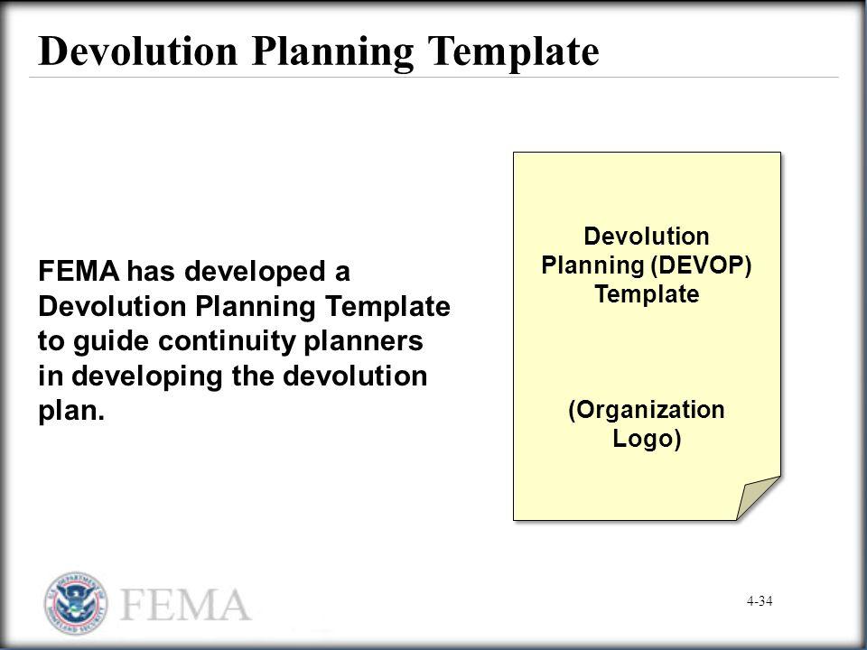Devolution Planning Template