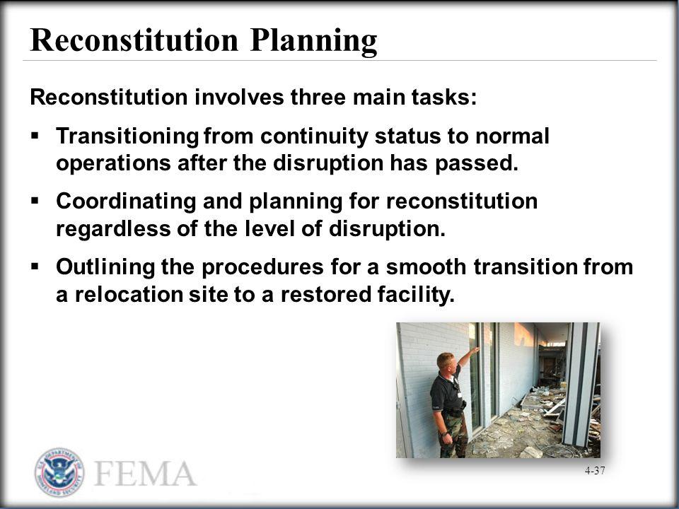Reconstitution Planning