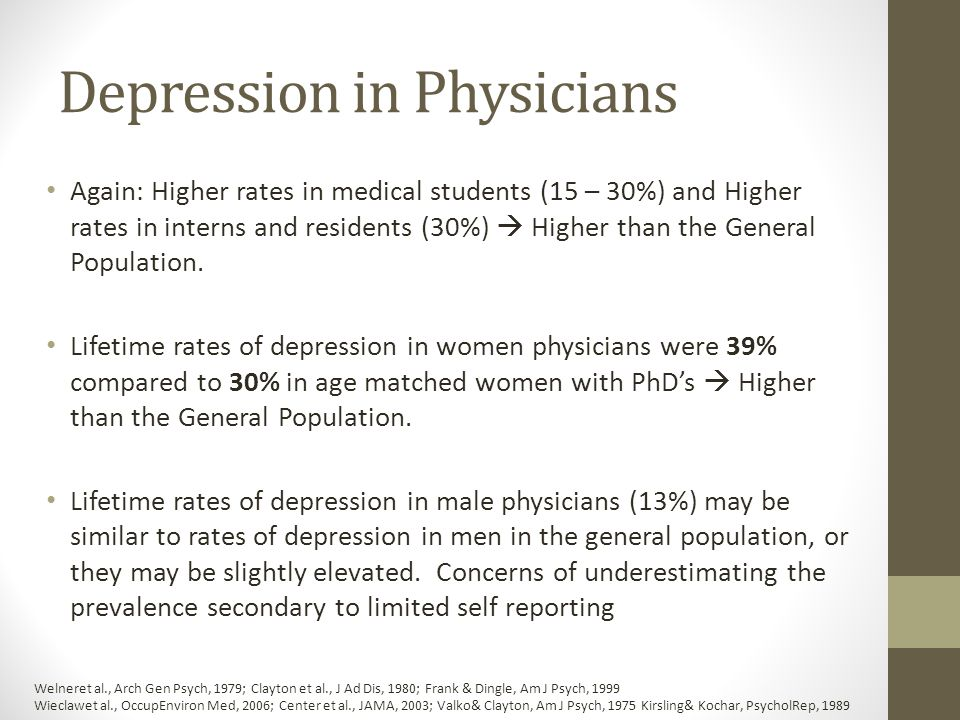 Depression in Physicians