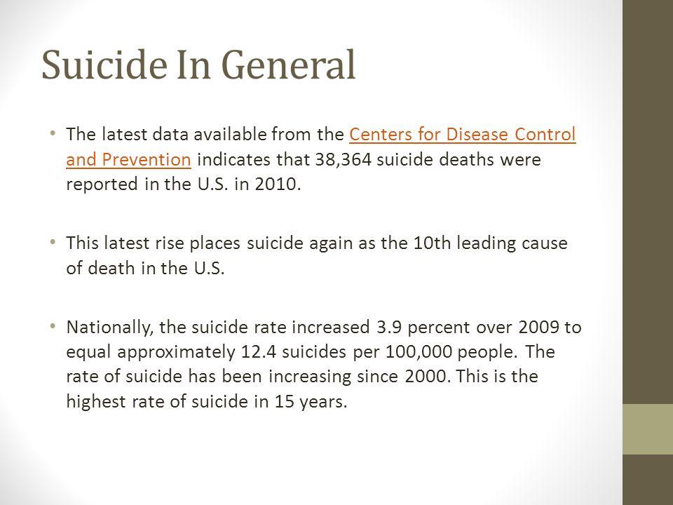 Suicide In General