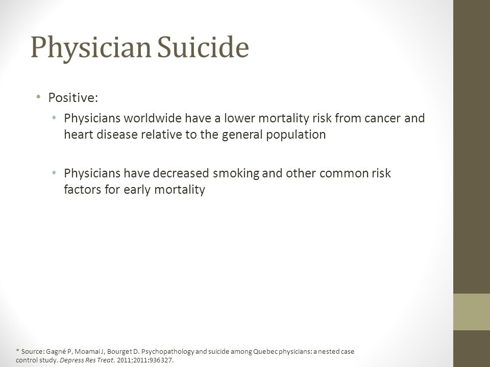 Physician Suicide Positive: