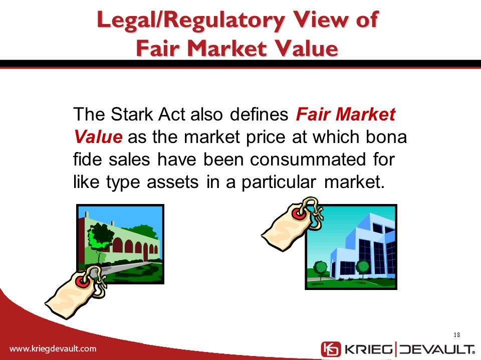 Legal/Regulatory View of Fair Market Value