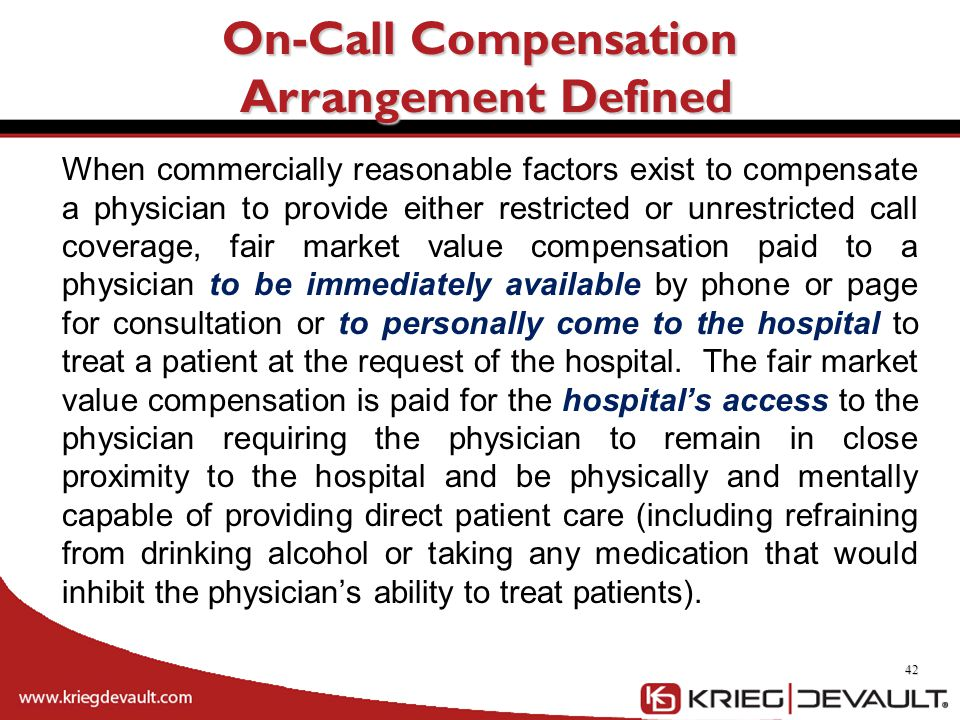 On-Call Compensation Arrangement Defined