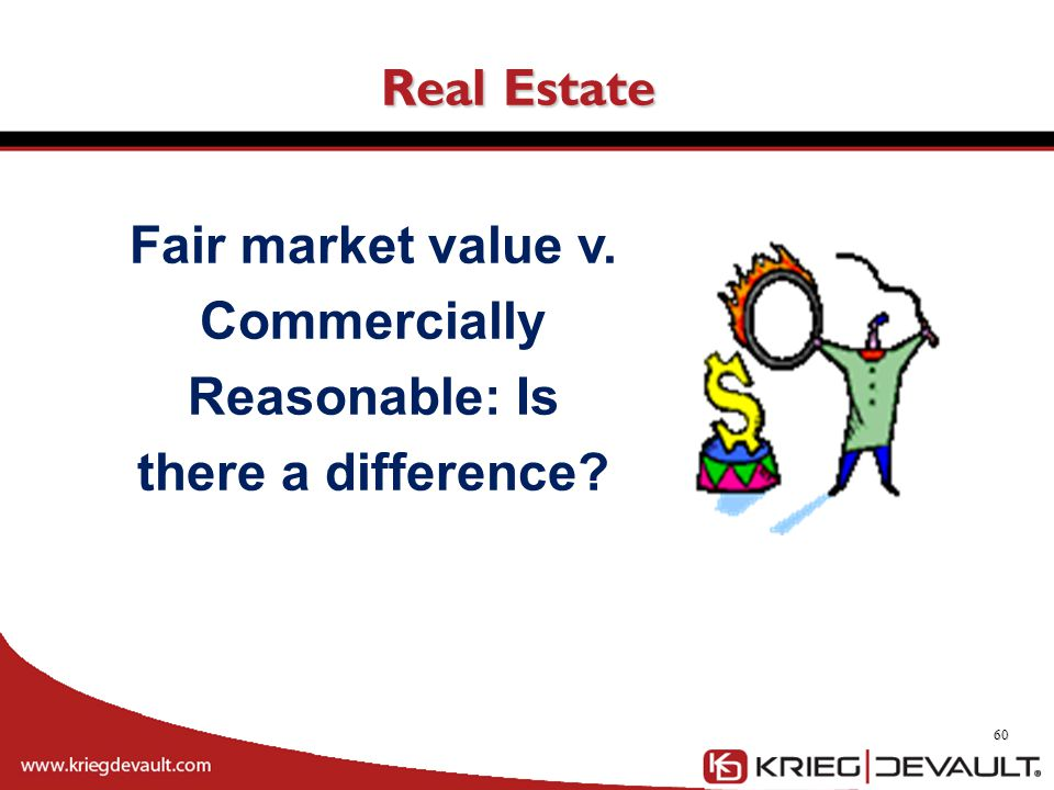 Fair market value v. Commercially Reasonable: Is there a difference
