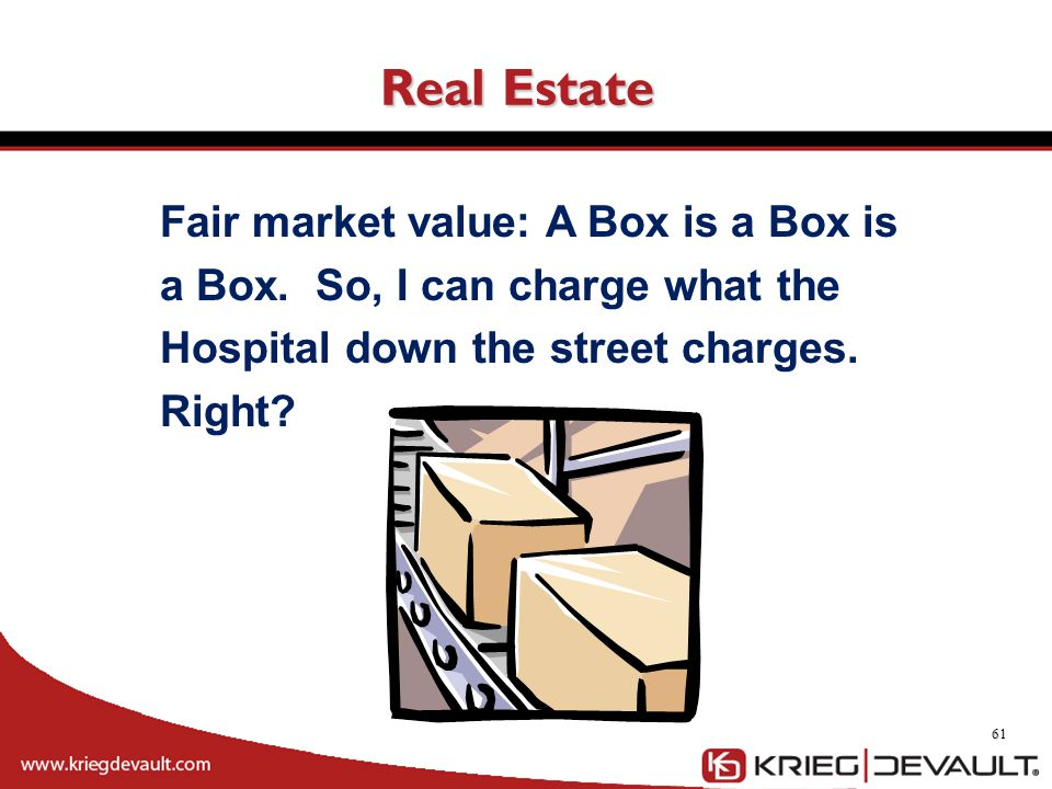 Real Estate Fair market value: A Box is a Box is a Box.