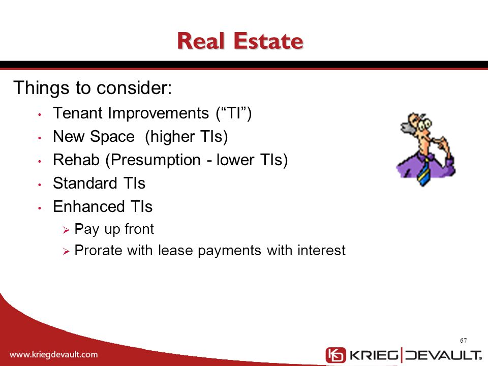 Real Estate Things to consider: Tenant Improvements ( TI )