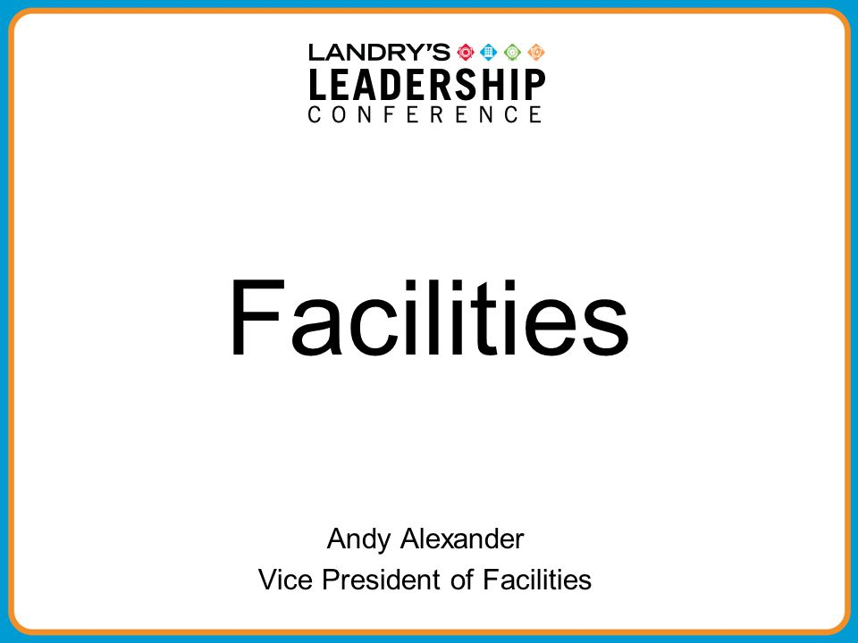 Vice President of Facilities