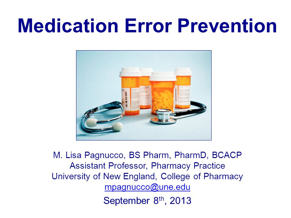 Medication Error Prevention