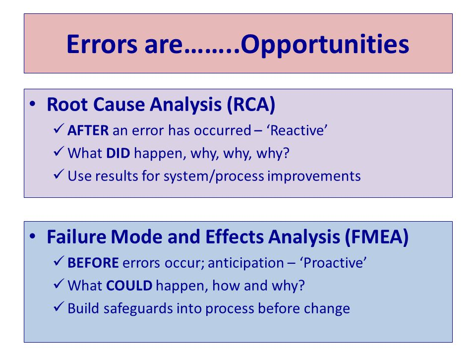 Errors are……..Opportunities