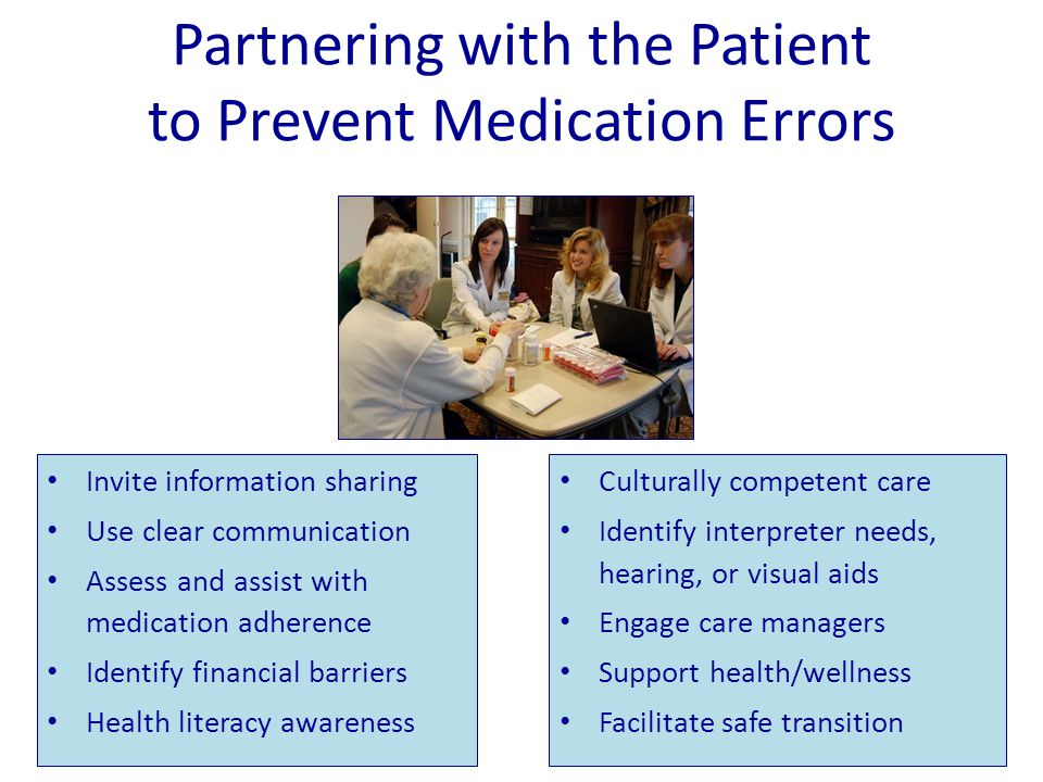 Partnering with the Patient to Prevent Medication Errors