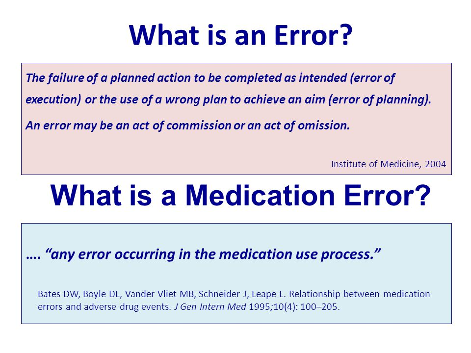 proposal for preventing medication errors In this report, the iom committee on identifying and preventing medication errors proposes a research agenda for industry and government that can help meet these critical needs despite the lack of data regarding many interventions that might improve the quality and safety of medication use, the committee offers recom.