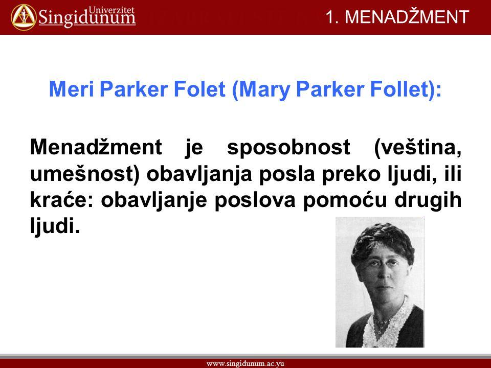 Meri Parker Folet (Mary Parker Follet):