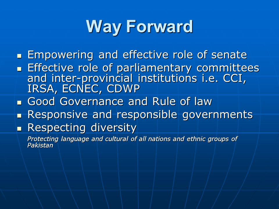 Way Forward Empowering and effective role of senate