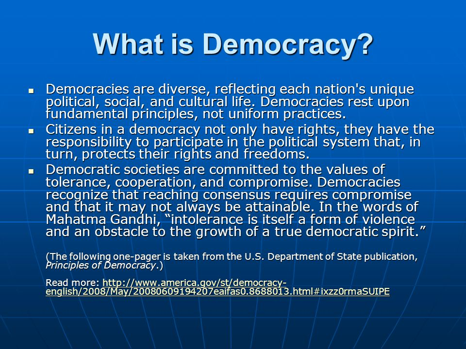 What is Democracy