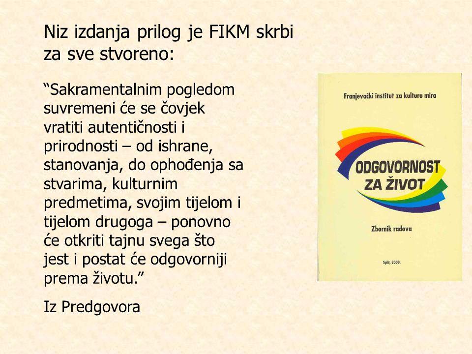 Niz izdanja prilog je FIKM skrbi za sve stvoreno: