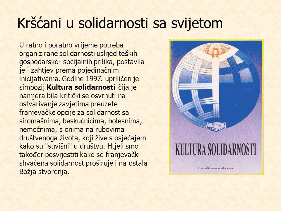 Kršćani u solidarnosti sa svijetom