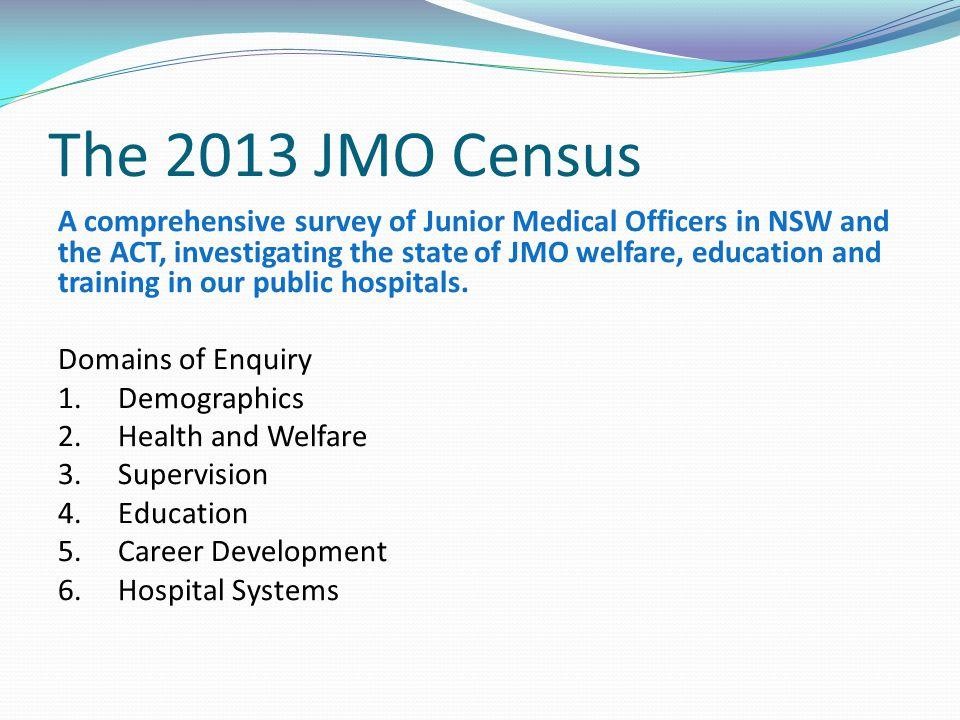 The 2013 JMO Census
