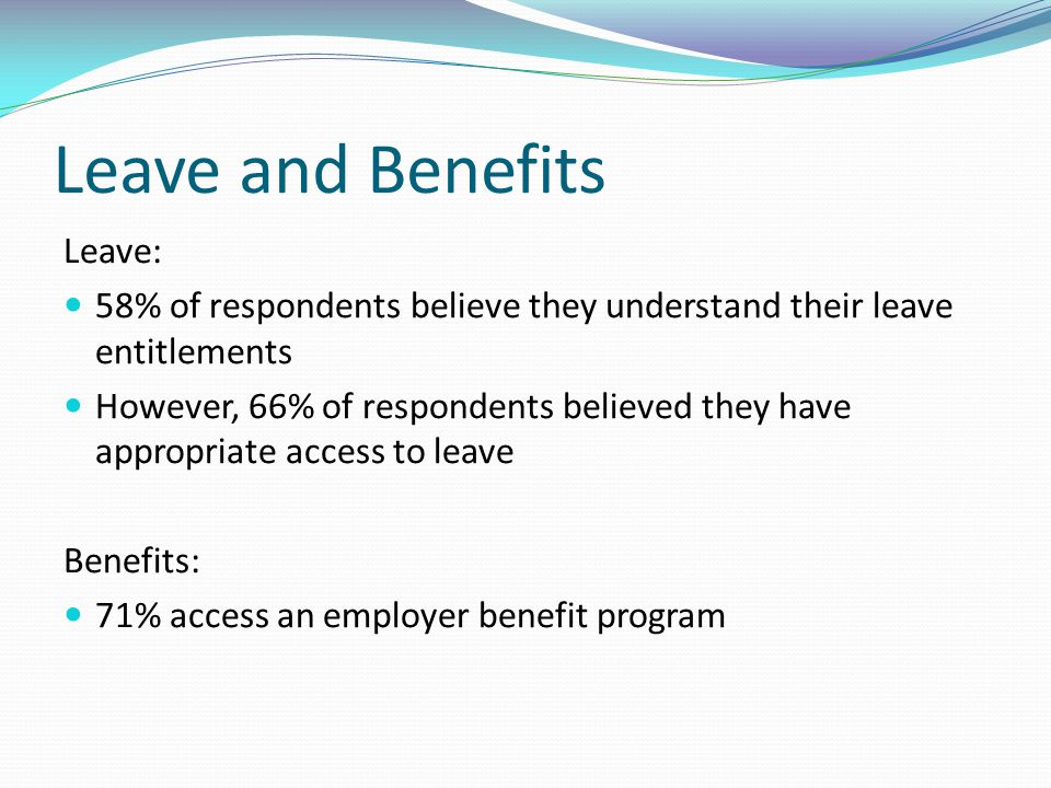 Leave and Benefits Leave: