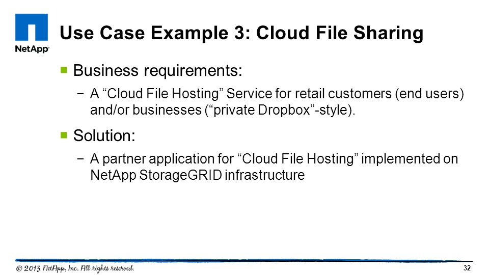 Use Case Example 3: Cloud File Sharing