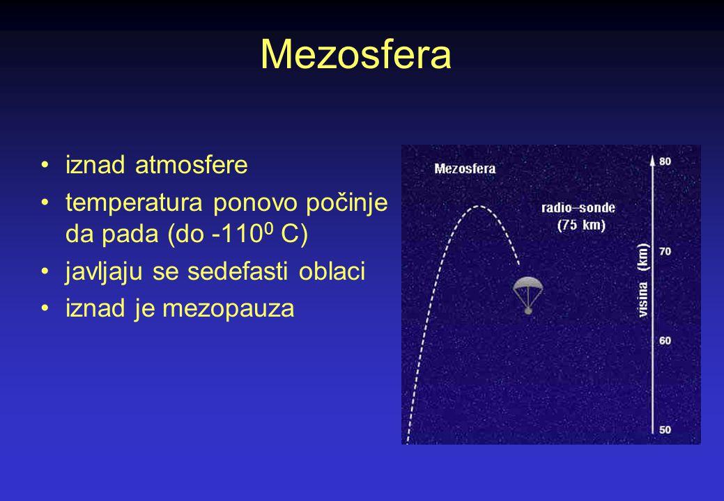 Mezosfera iznad atmosfere