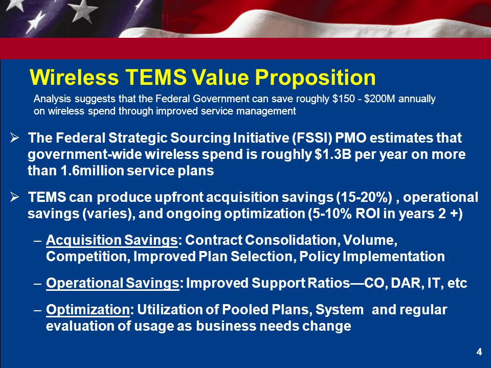 Wireless TEMS Value Proposition