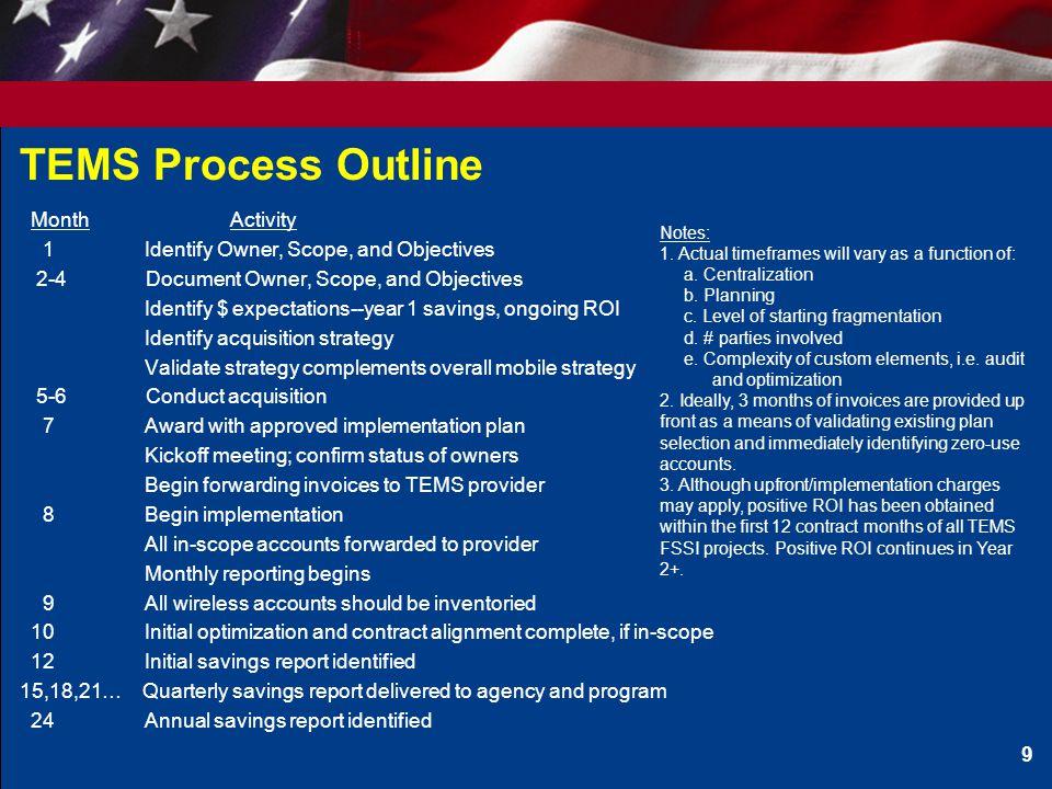 TEMS Process Outline